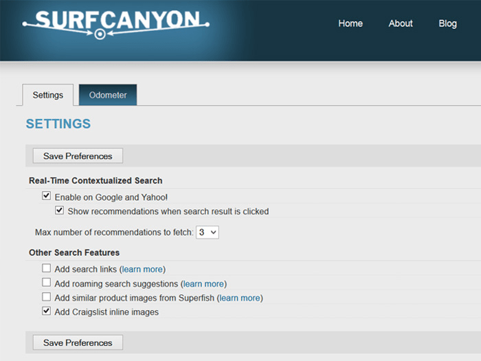Surf Canyon for IE