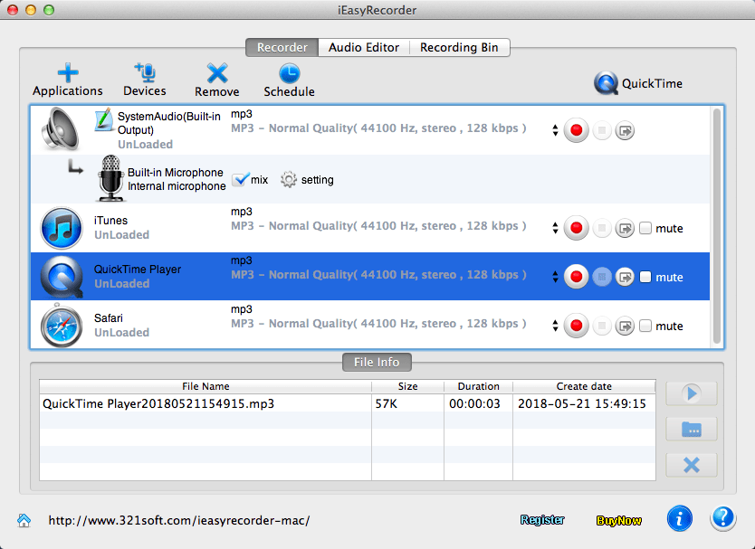 iEasyRecorder for Mac