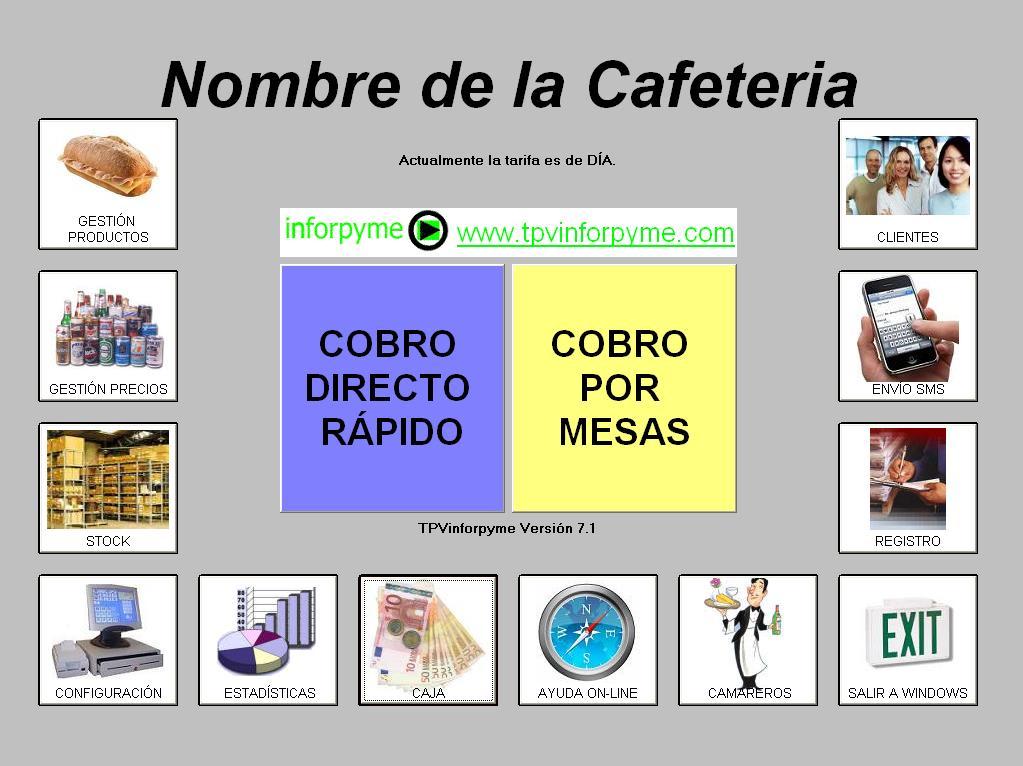 Programa para cafeteria bar restaurante hosteleria
