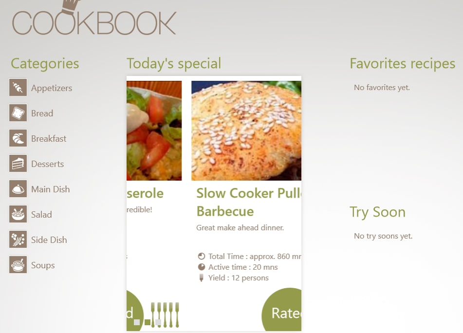 CookBook voor Windows 10