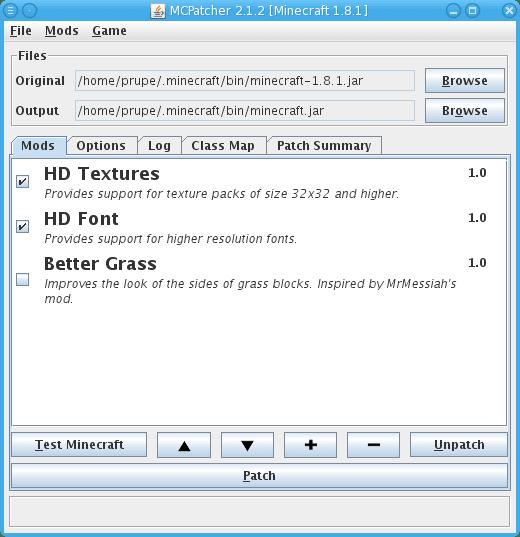 MCPatcher 2.3.2