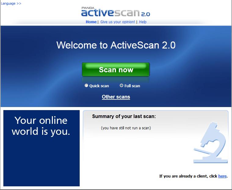 Panda Active Scan