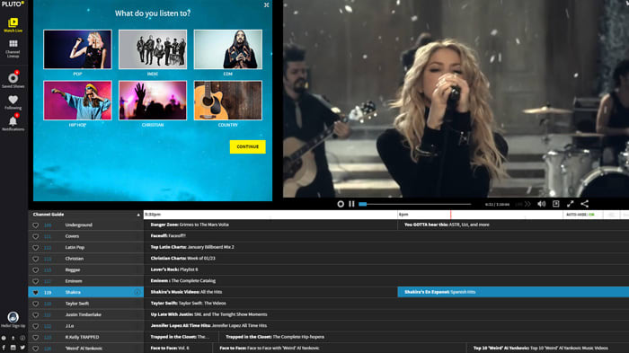 PlutoTV: TV for the Internet