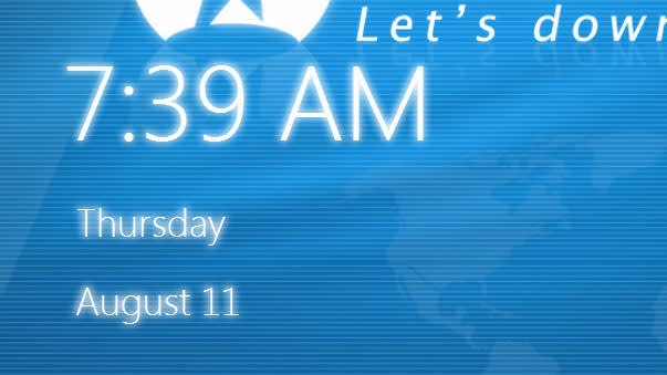 Windows 8 Desktop Clock