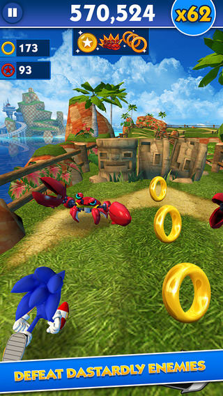 Sonic Dash: Temple Run-style game starring Sonic the Hedgehog