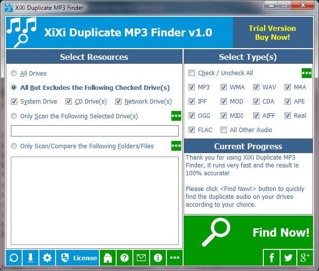 XiXi Duplicate MP3 Finder