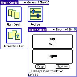 ECTACO FlashCards English - German