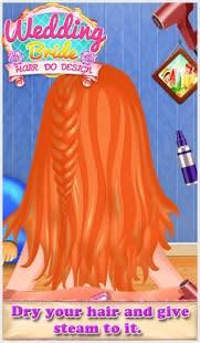 Novia de la boda el pelo hace