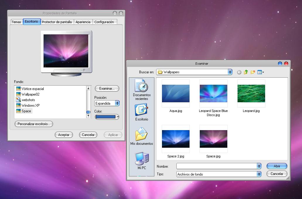 Windows Leopard XP OS X
