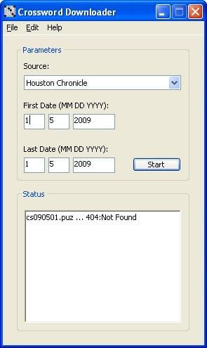 Crossword Downloader