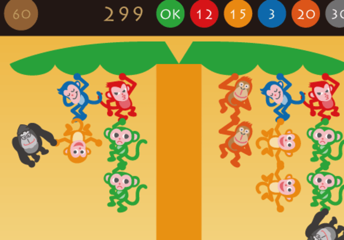 Monkey Tree Free Puzzle Game