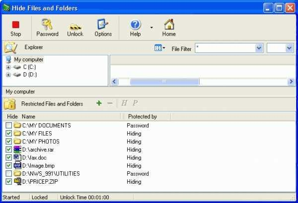 Hide Files and Folders