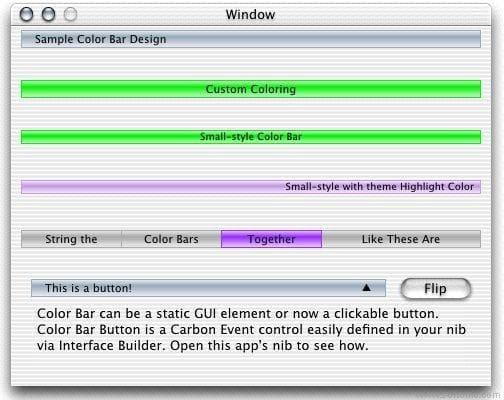 Color Bar GUI Widget