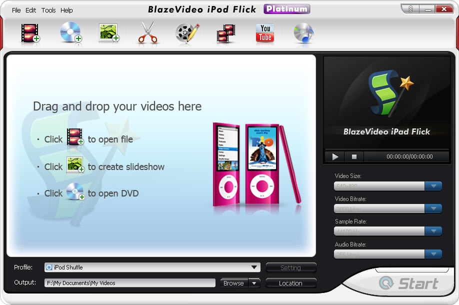 BlazeVideo iPod Flick Platinum