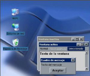 Windows XP Blue Desktop Theme