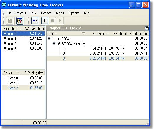 AllNetic Working Time Tracker