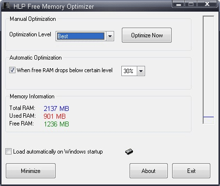 HLP Free Memory Optimizer