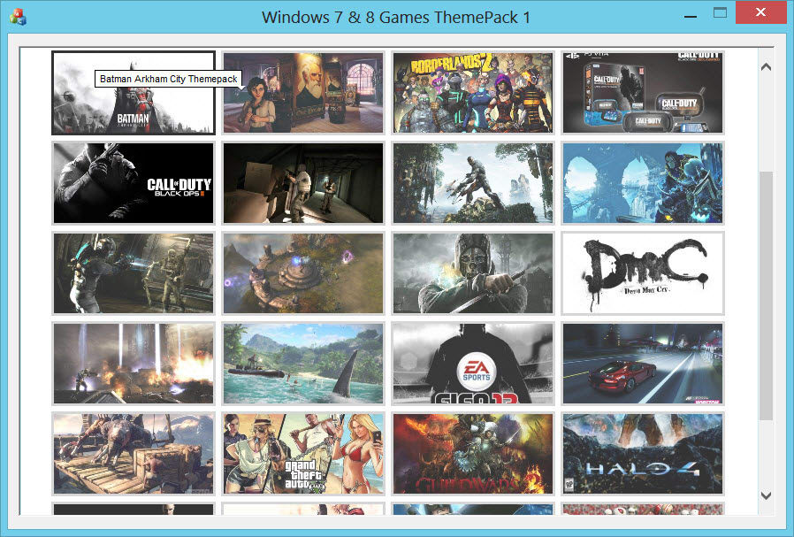 Windows Themes Game Pack 1