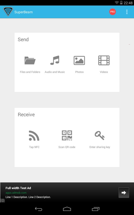 SuperBeam-WiFi Direct Share
