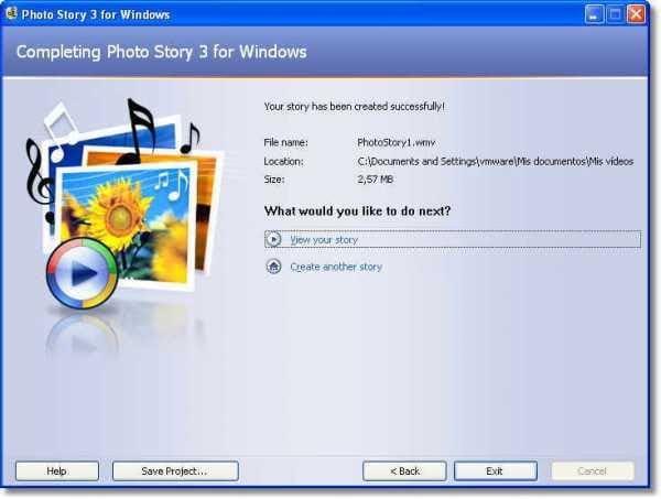 Windows フォト ストーリー