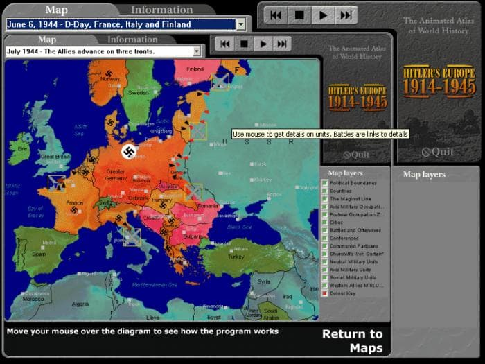 Hitlers Europe Download - Third reich map 1944