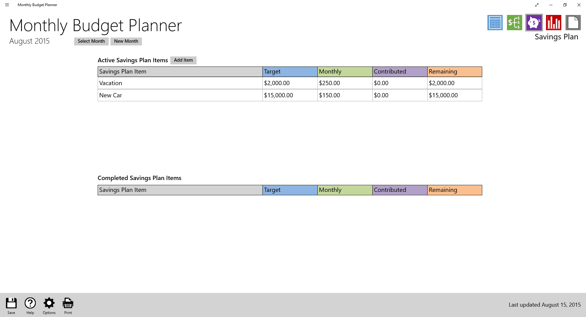 Monthly Budget Planner - Download