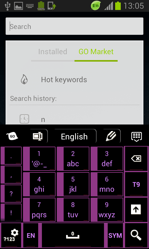 Keyboard Black Purple Free