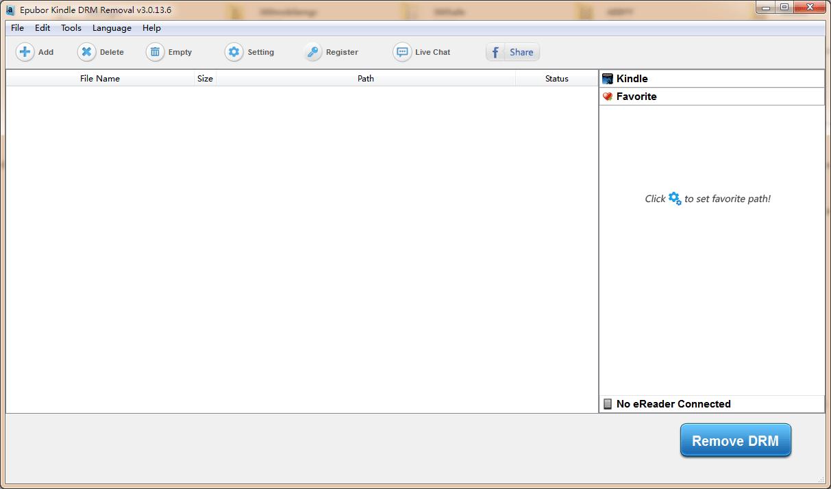 Epubor Kindle DRM Removal