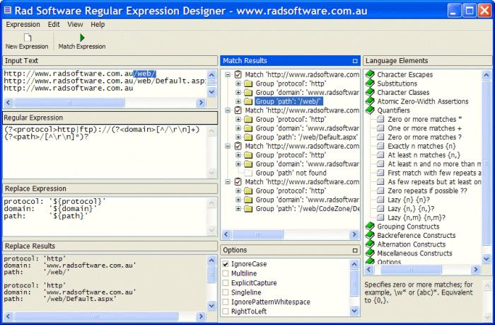 Regular Expresion Designer