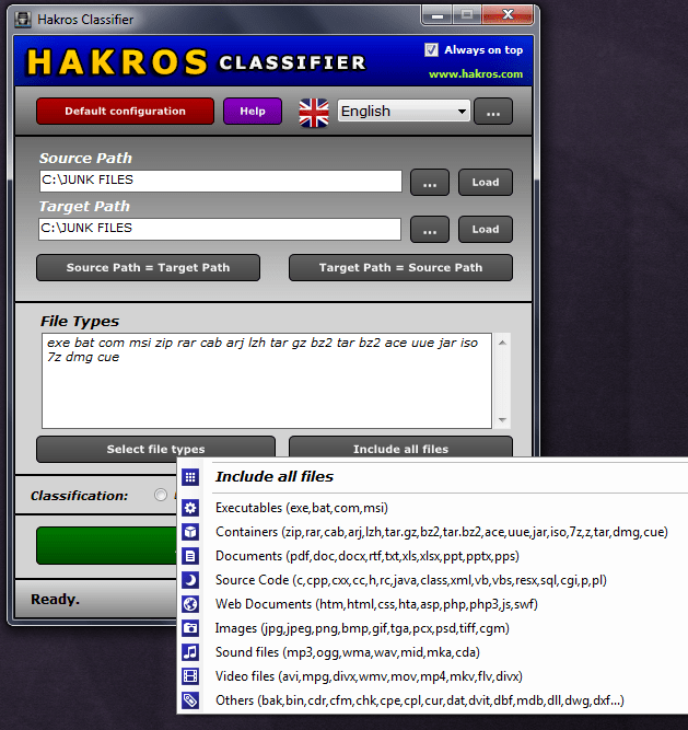 Hakros Classifier