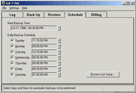 Saf-T-Net Automatic Data Backup Services