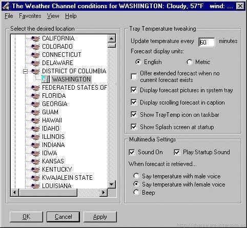 Tray Temperature Multimedia Edition