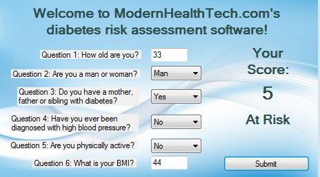 Diabetes Risk Assessment Test