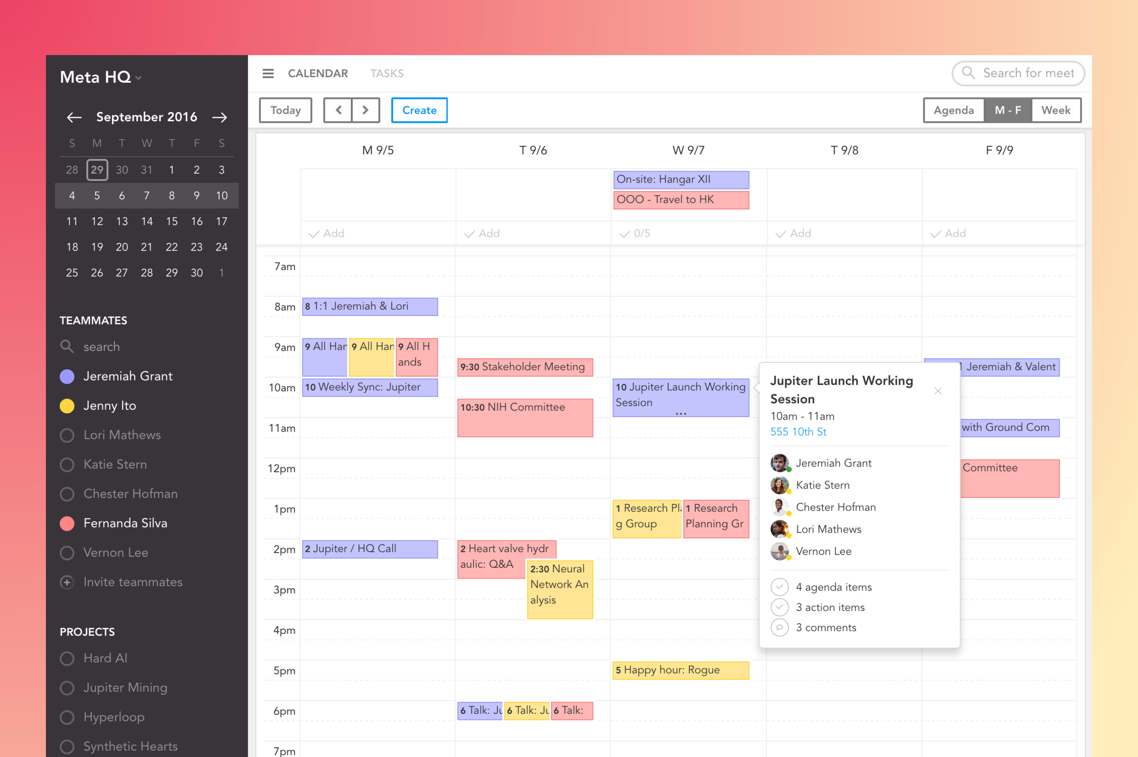 Sunsama Calendar