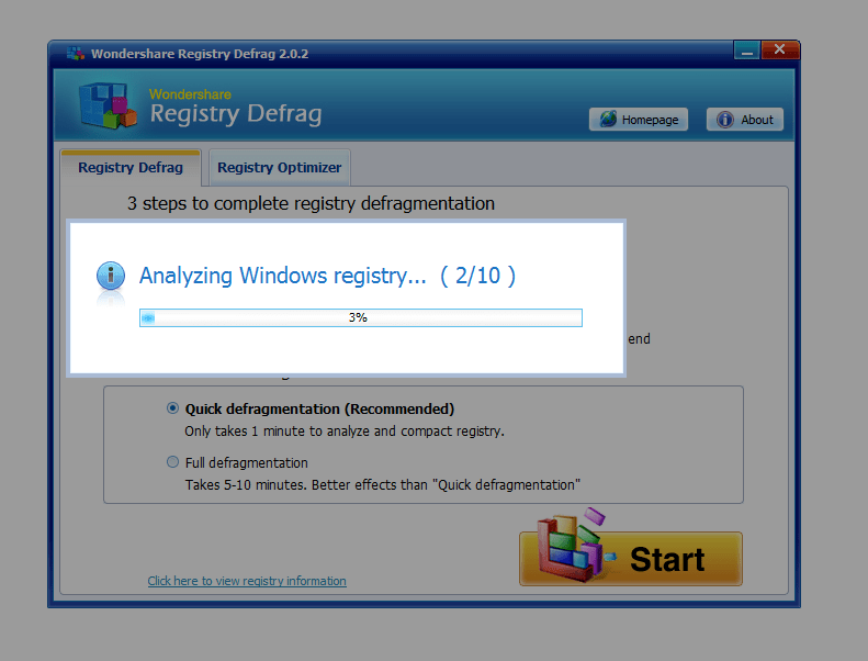 Wondershare Registry Defrag