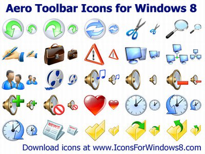 Aero Toolbar Icons for Windows 10