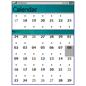 PocketCM Calendar