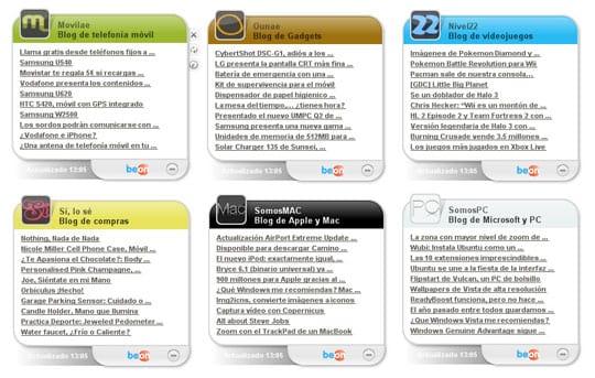 Swebloo RSS Gadgets
