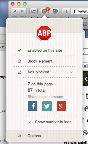 Adblock Plus pour Safari pour Mac - Télécharger