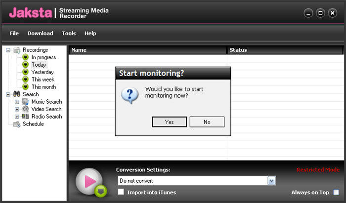 Jaksta Streaming Media Recorder