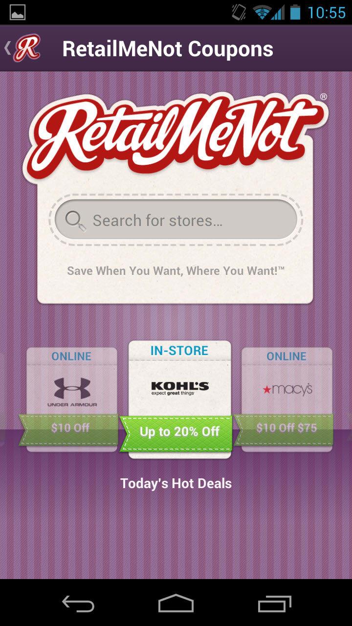 Retailmenot com coupons