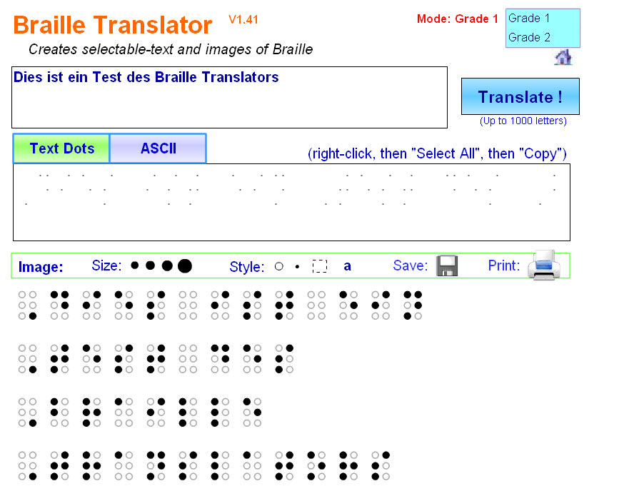 Braille Translator