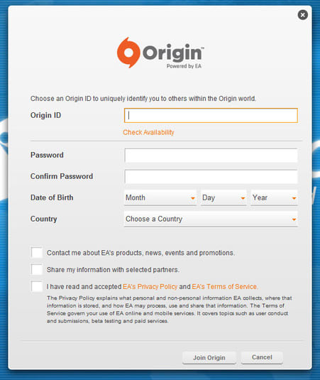 Origin: Keep up to date with EA game releases