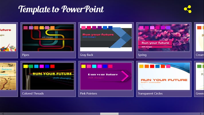 Template to PowerPoint