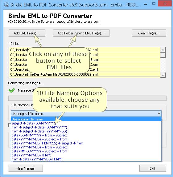 Birdie EML to PDF Converter