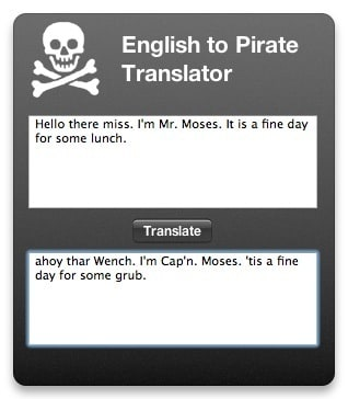 English to Pirate translator