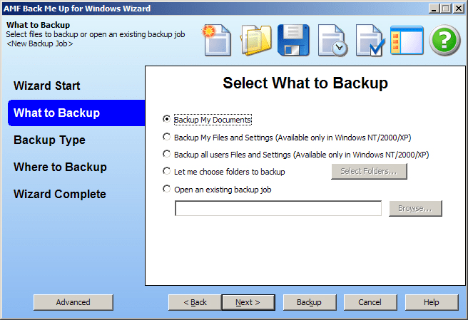 Back Me Up Backup Software