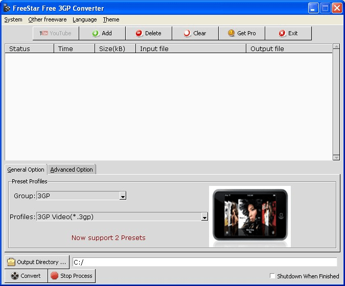 FreeStar 3GP Converter