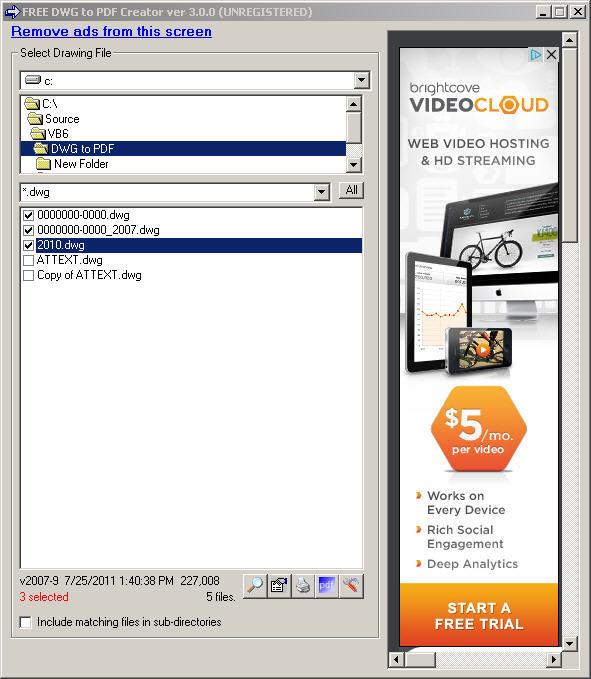 Free DWG to PDF Creator