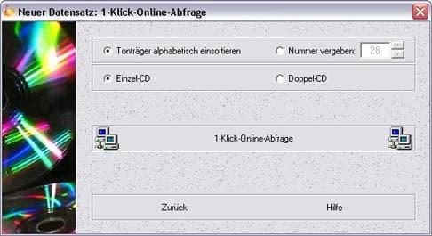 10-Sekunden-CD-Verwaltung